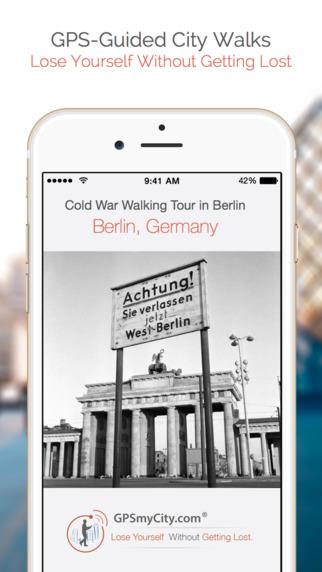 Cold War Walking Tour in Berlin iPhone Screenshot 1