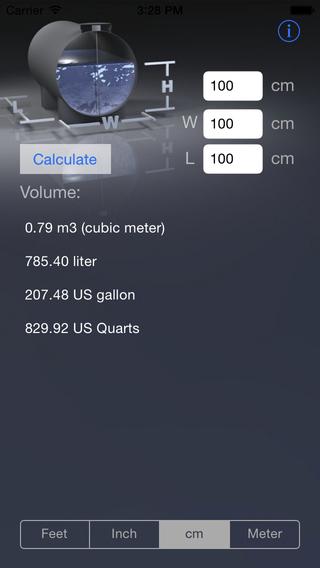 HorizontalTankVolumeCalculator