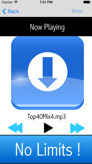 Download and Play music from your Dropbox library
