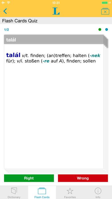 Hungarian <-> German Dictionary Langenscheidt Essential iPhone Screenshot 3