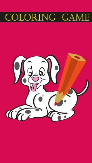 Coloring Game for Dalmatians