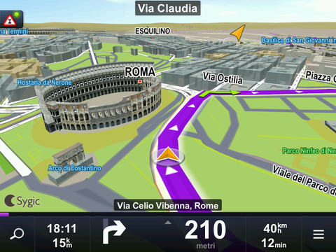 Sygic Aura Drive Italy GPS Navigation iPad Screenshot 2