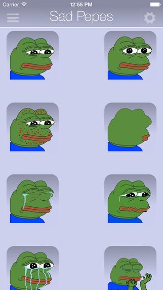 Rare Pepes for SMS Sad Frog