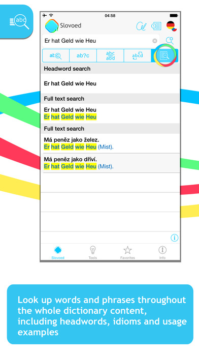 German <-> Czech Slovoed Deluxe talking dictionary iPhone Screenshot 2