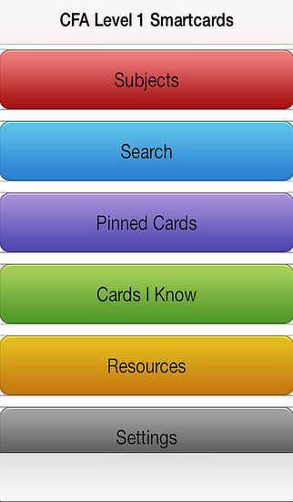 Smartcards for CFA Level1