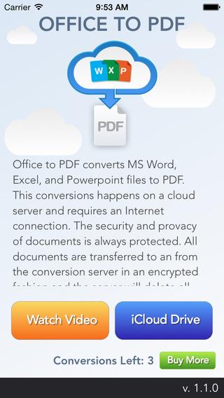 Office To PDF - 将 Office 文档转换为 PDF 文档[iOS]丨反斗限免