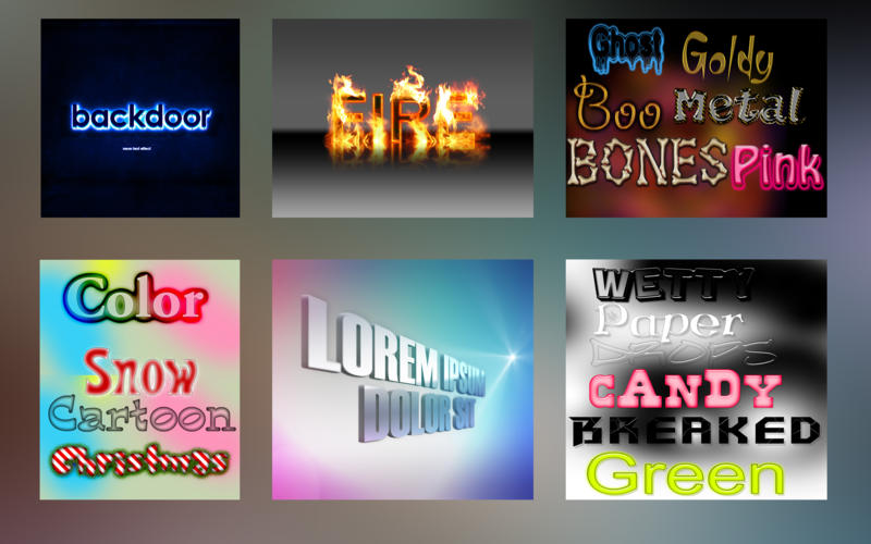 Text Effects Screenshot - 3