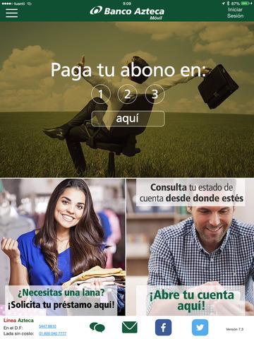 Banco Azteca Móvil versión iPad