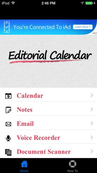 Editorial Calendar for iPhone