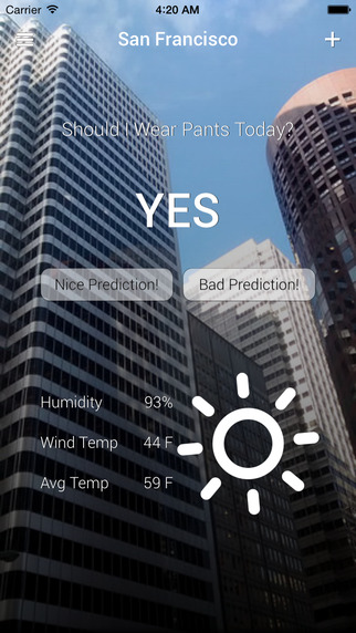 Should I Wear Pants Today