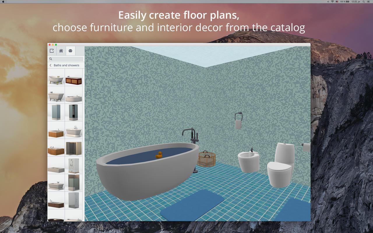 App shopper bathroom design 5d bathroom plans interior for Design my bathroom app