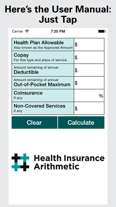 Health Insurance Arithmetic screenshot
