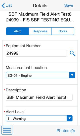 Condition Based Maintenance Smartphone for JD Edwards EnterpriseOne