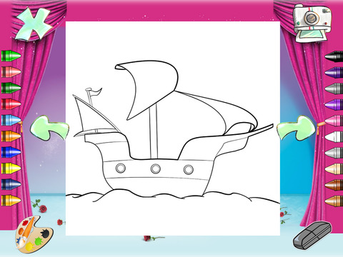 ipad screenshot 3 kids color pages paint draw printable sharing coloring books