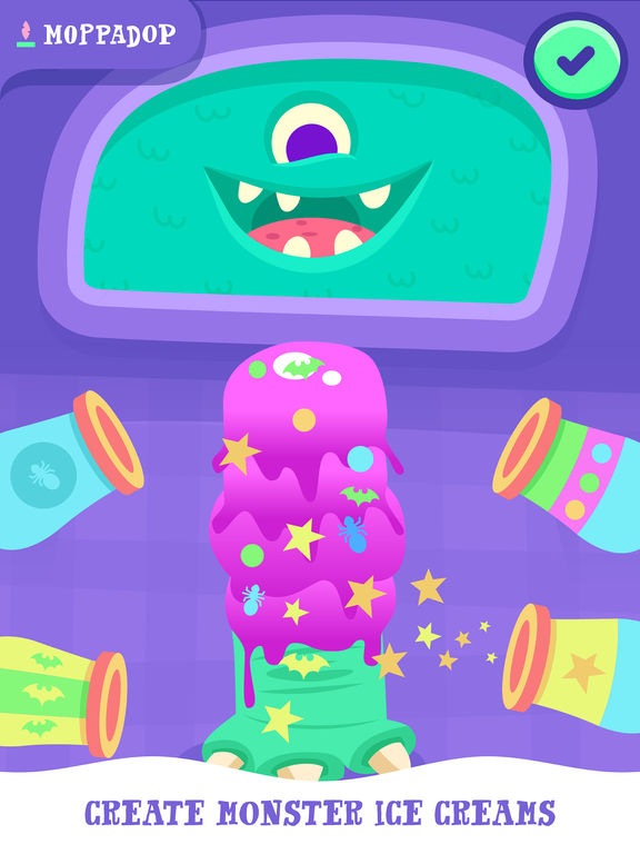 Moppa Ice Cream: Make monster desserts for kids Screenshots