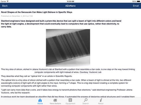 AZoNano -The A to Z of Nanotechnology from AZoNano.com iPad Screenshot 2