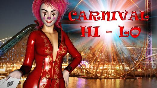 Evil Carnival HiLo Solitaire