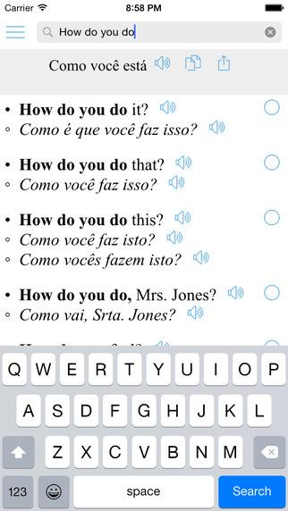 Offline Translator Pro + Portuguese English Bilingual Sentences