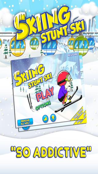 Skiing Stunt Ski - Snow Mountain Stunt Racing Game Extreme FREE