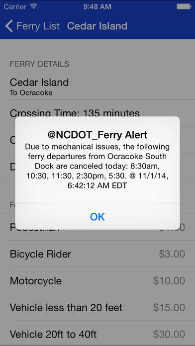 NC Ferries iPhone Screenshot 3