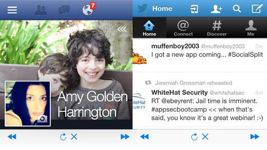 SocialSplit For Twitter And Facebook
