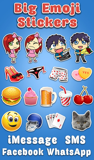 Big Emoji Keyboard - Stickers for Messages Texting Facebook