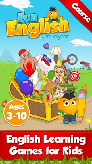 Fun English Course by Studycat: English Language Learning Games for Kids ages 3-10. Children study s