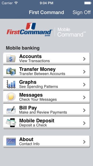 First Command Bank MobileCommand™