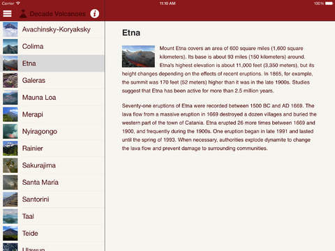 Britannica Kids: Volcanoes iPad Screenshot 1