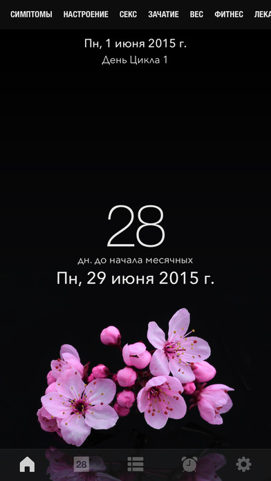 календарь менструации на айфон - фото 2