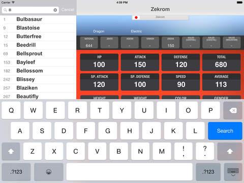 PokeIndex iPad Screenshot 3