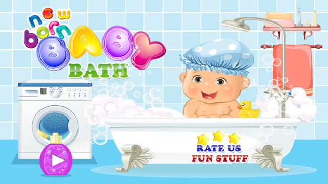 Newborn Baby Bath - Cute mommy love care and dress up game of baby girl baby boy