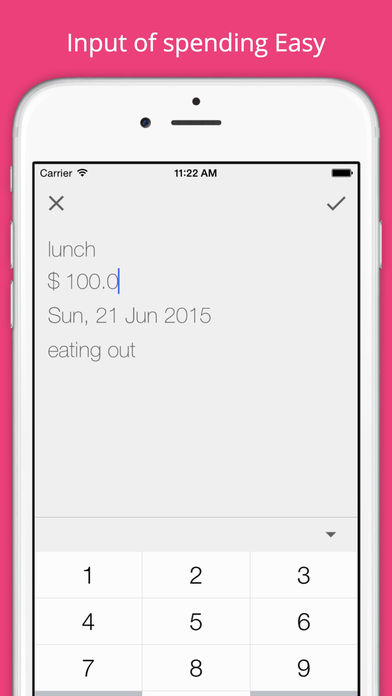 Spends - pocket money book Apps free for iPhone/iPad screenshot