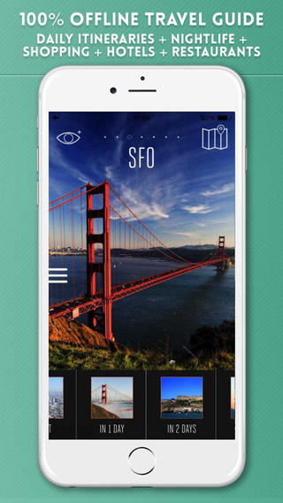 San Francisco Travel Guide with Offline City Street and MUNI Maps