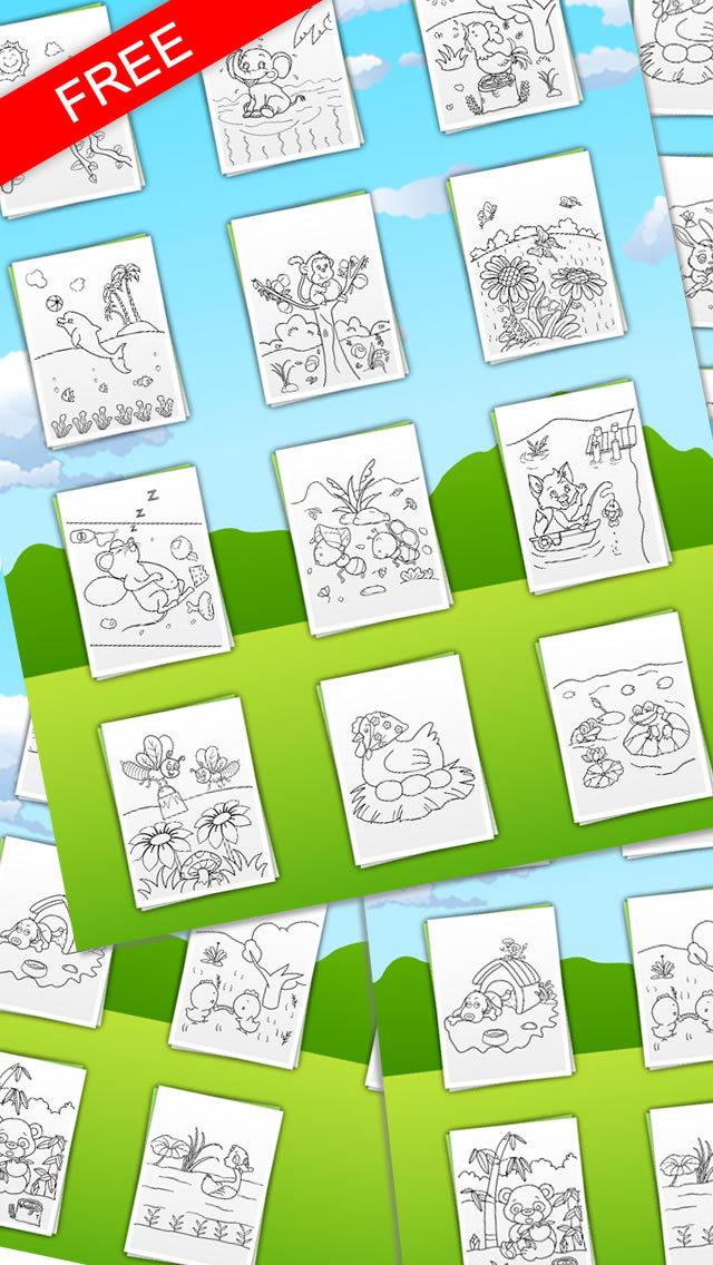 动物小伙伴们(免费)-儿童画画填色涂鸦