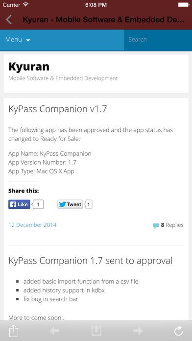 KyPass 3 Apps for iPhone/iPad screenshot