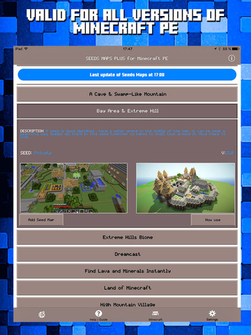 Seeds for Minecraft PE : Free Seeds Pocket Edition Screenshot 2