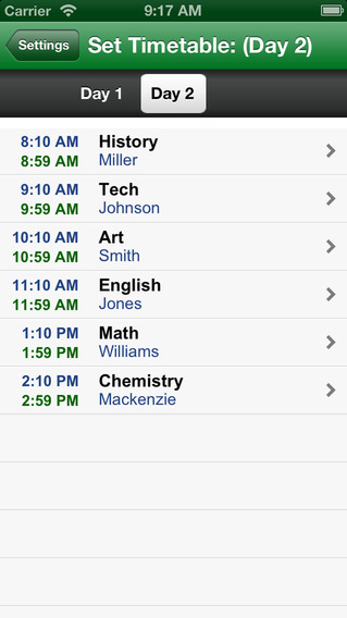 School Countdown Full - With Classes, Holiday, Days and Week Timetable for Smart Study iPhone Screenshot 4
