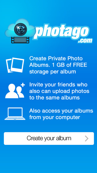 Photago Multi user albums collecting photos together
