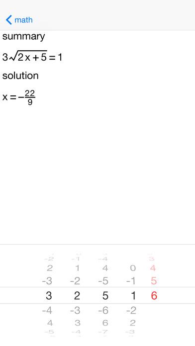 ARadicalEqn Radical Equations iPhone Screenshot 5