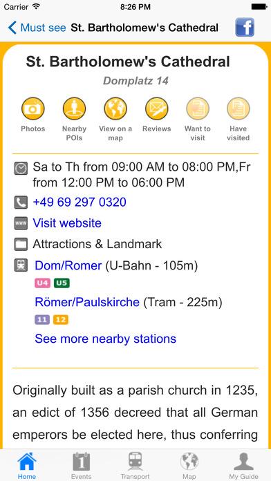 Frankfurt Travel Guide Offline iPhone Screenshot 5