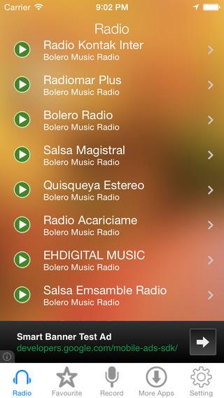 Bolero Music Radio Recorder