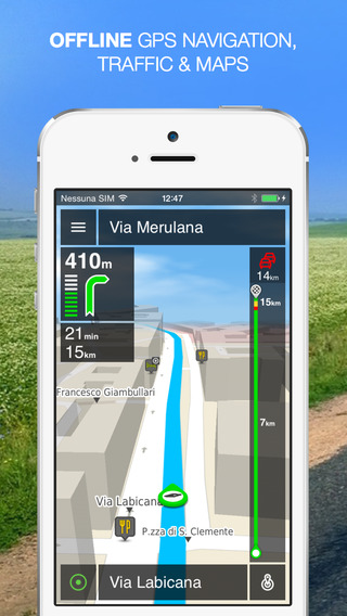 NLife Italy - Offline GPS Navigation Traffic Maps