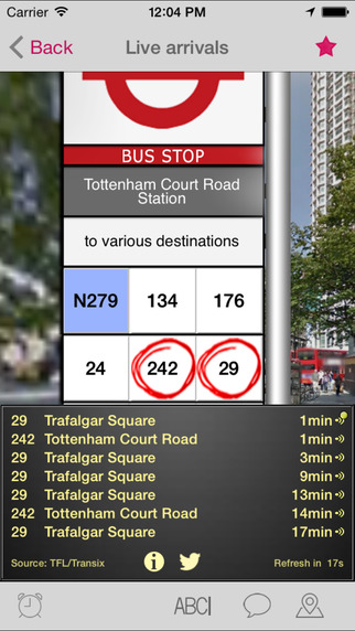 London Bus Checker - Live Bus Countdown Times and Journey Planning at every stop