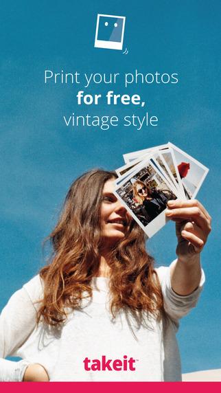 Take it - Social photo printing. Free prints vintage style.