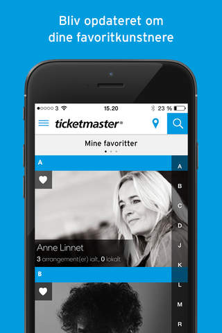Ticketmaster Danmark screenshot 2