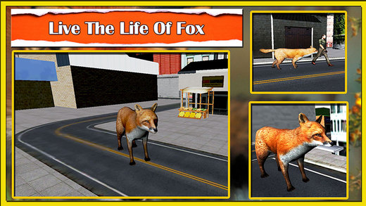 Wild fox simulator 3D - Play as a red fox hunt and steal goods in the fruit stalls