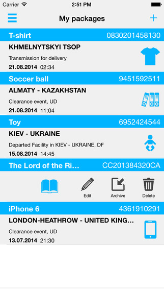 Track your shipments with OhMyDelyvery Premium. Search for your parcel. Track packges shipments lett