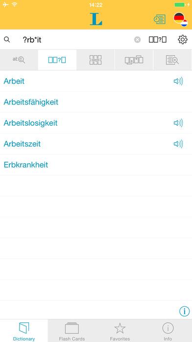 Dutch <-> German Dictionary Langenscheidt Standard iPhone Screenshot 4
