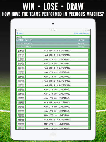 Football History - results, goals & statistics for your accumulator betting strategy Скриншоты6